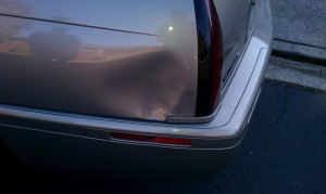 Paintless Dent Repair Cadillac - Before (PDR FAQ)