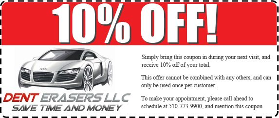10% Off Next Paintless Dent Removal Procedure