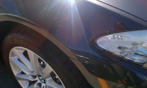 BMW Right Fender Dent After